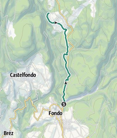 Cartina / Da Fondo alla Cascata di Tret