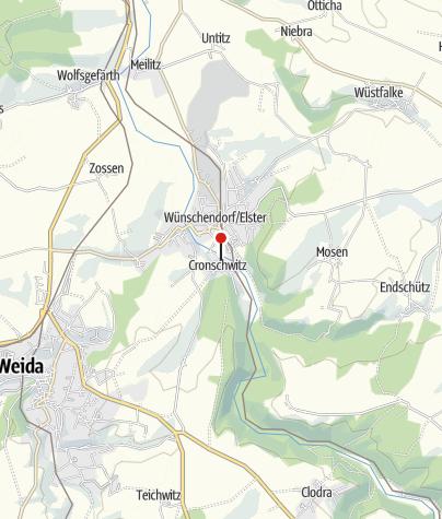 Karte / Klosterruine Cronschwitz