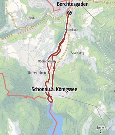 Karte / Der Königsseer Fußweg