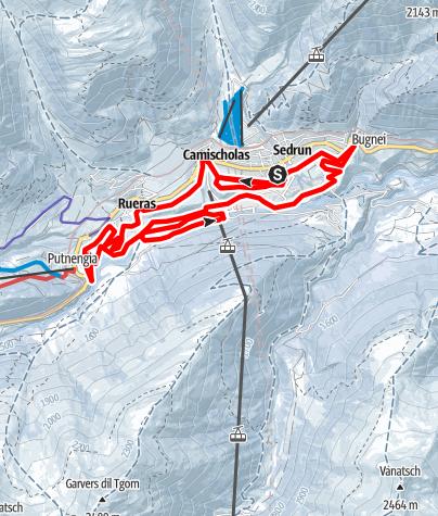 Map / Sedrun circular trail