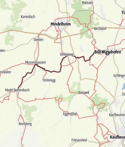 Karte / Jakobus-Pilgerweg  Bad Wörishofen - Mark Rettenbach