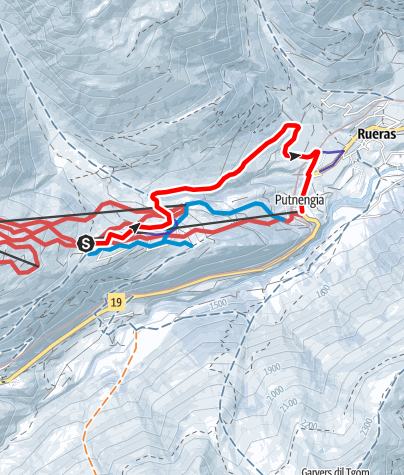 Karte / 814 Schlittelweg Milez- Dieni mit Sessellift-Aufstieg
