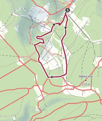 Mapa / Rock Point Horská Výzva - Krkonoše (Pochod s Mixitkou)