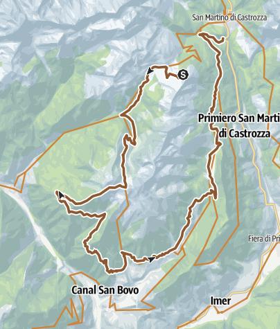 Cartina / Valsorda Enduro Trail-Malga Fiamèna