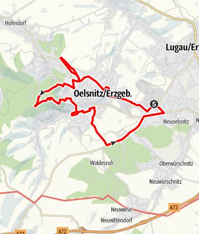 Karte / Bergbautour Oelsnitz/Erzgebirge