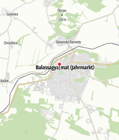 Térkép / Balassagyarmat, vármegyeháza