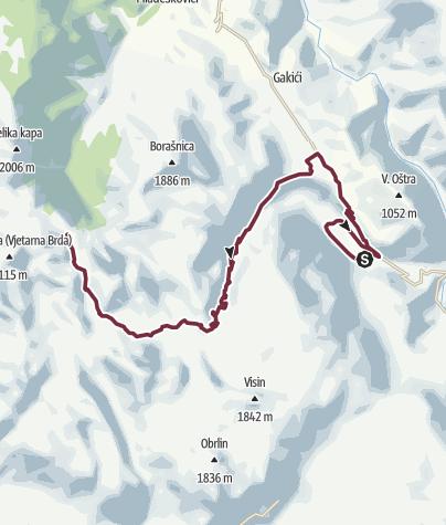 Map / Boračko Jezero - Jezerce (Via Dinarica day 31)