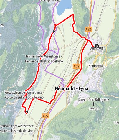 Map / Bassa Atesina/Unterland Tour