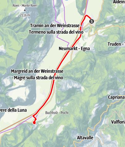 Map / The mystical Haderburg Castle in Salorno