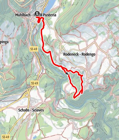 Cartina / Da Rio di Pusteria al Castel Rodengo