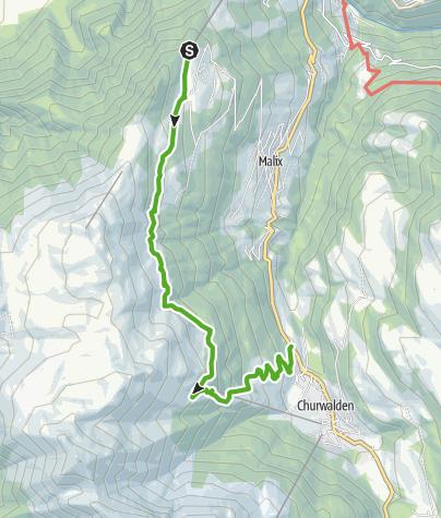 Karte / GPS Brambrüesch-Pradaschier (ohne Dreibündenstein - kleine Route)