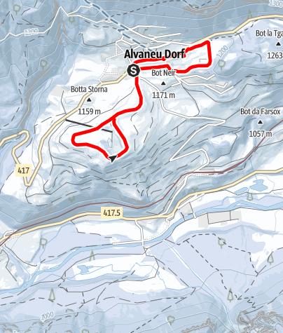 Kaart / Albula Kristallweg