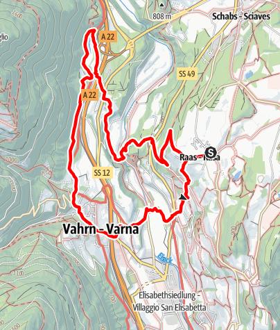Mappa / Passeggiata Vino e Acqua a Rasa