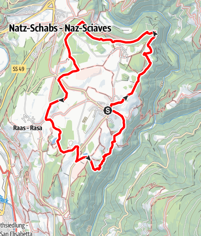 Karte / Dörferrunde Natz-Schabs