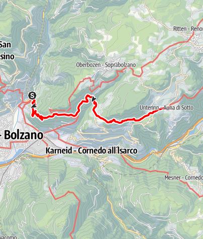 Mappa / Sentiero del castagno Bolzano-Renon