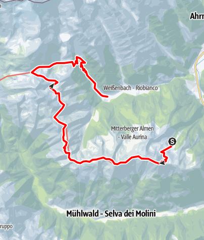 Map / Alpine hike Kellerbauerweg