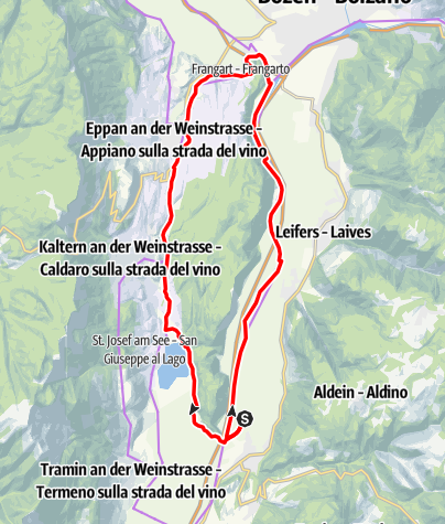 Map / Monte di Mezzo Tour
