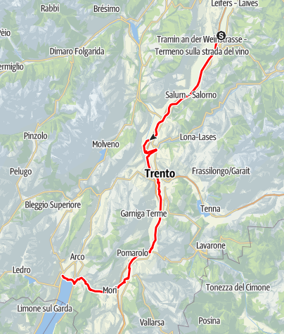 Map / Tour to the Garda Lake