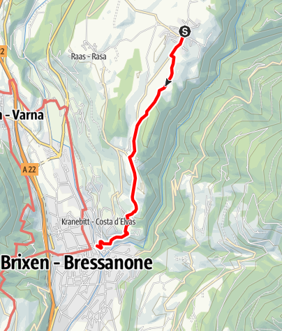 Map / From Natz to the Historic Brixen