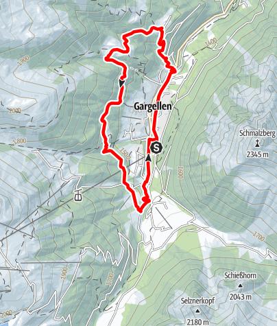 Map / Röbi-Rüti Route Gargellen