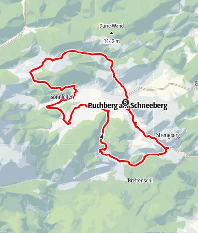 Karte / Schneeberg-Strecke