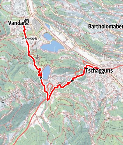 Map / Von Vandans über Latschau nach Tschagguns