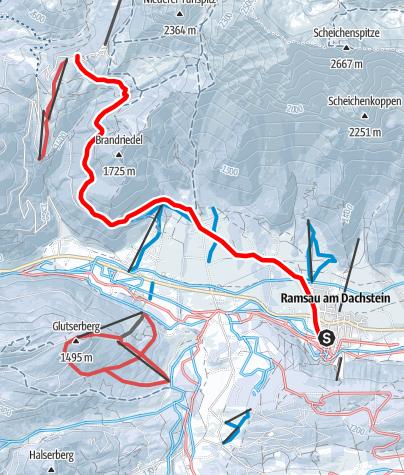 Karte / Rodeln über den Skiweg Türlwand