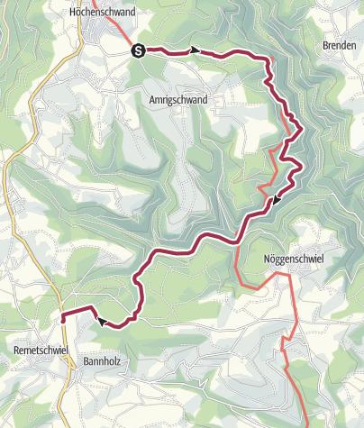 Karte / Höchenschwand: Felsenweg bis Waldhaus