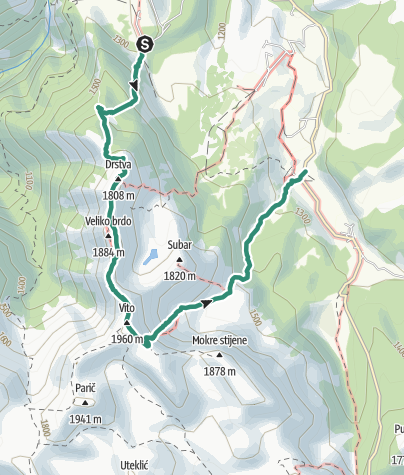 Map / Full Moon Hike on Visocica Mountain