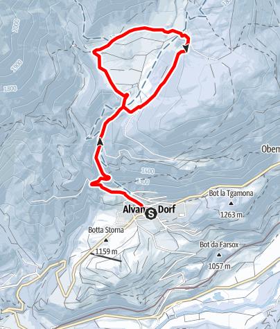 Karte / Aclas Dafora - Alvaneu Dorf