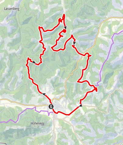 Karte / WEINradeln in Leutschach an der Weinstraße -  Eichberg - Kreuzbergwarte und Klapotetz
