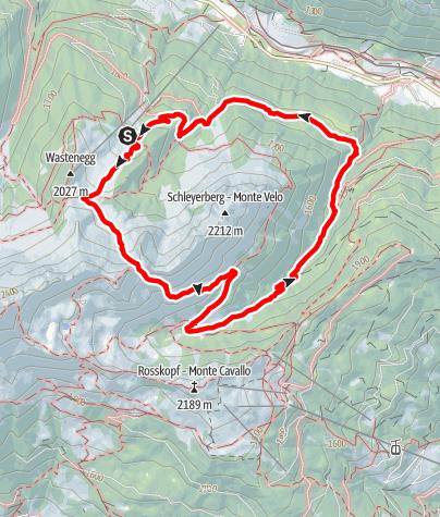Karte / Ladurns>Lotterscharte>Vallming-Alm>Rosskopf