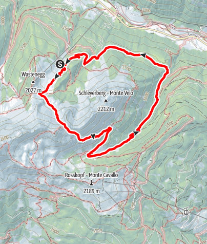 Mapa / Ladurns>Lotterscharte>Vallming-Alm>Rosskopf