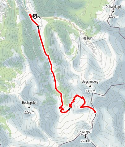 Karte / Pfälzerhütte-Tour