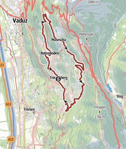 Karte / WalserSagenWeg