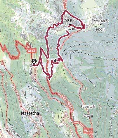 Karte / Zum Gipfelkreuz des Alpspitz