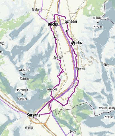 Map / Fünf Schlössertour mit dem E-Bike