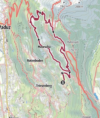 Karte / Philosophenweg Triesenberg