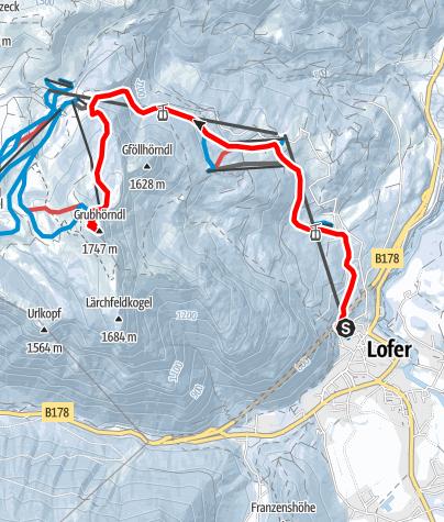 Map / Von Lofer auf das Grubhörndl (1.747 m)
