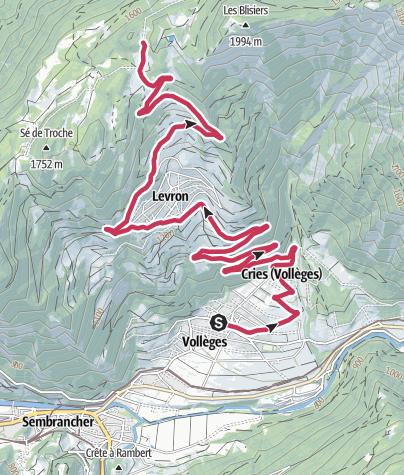 Karte / Col du Tronc – Mythische Alpenpässe