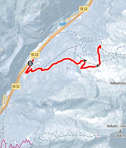 Mapa / Winterwanderung zur Enzianhütte