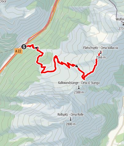 Mapa / Flatschspitze