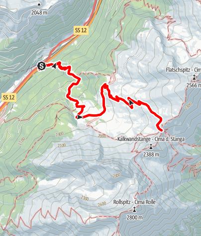 Mapa / Enzianhütte Zirog>Schlüsseljoch