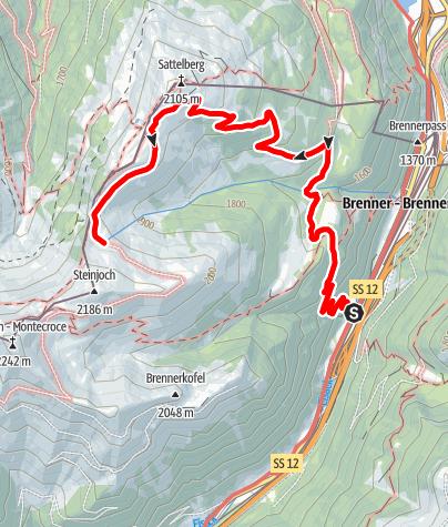 Kaart / Eisackquelle am Brenner (2030 m)