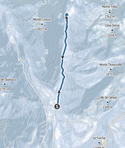 Cartina / Ciaspole in Val Tolvà