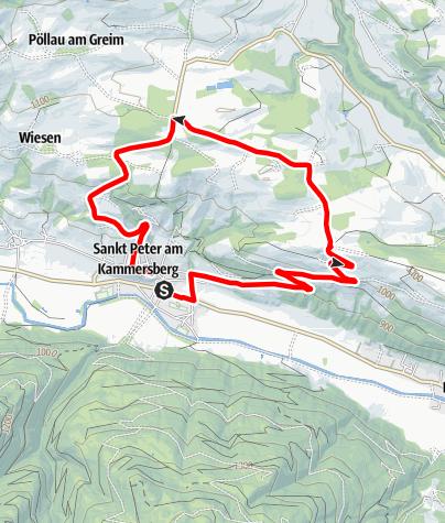 """Karte / Kammersberg Route Mountainbikeroute """"R2 blau"""""""