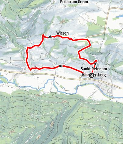 """Karte / Bischof in der Wiesn - Mountainbikeroute """"R3 gelb"""""""