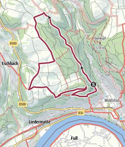 Karte / Waldshut-Tiengen: Rund um den Spitalwald