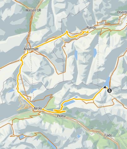 Karte / Knackige Drei-Pässe-Tour
