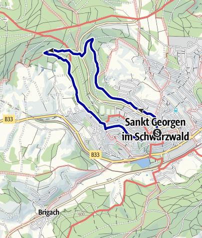 Karte / St. Georgen - Rundwanderung über das Silberbrünnele